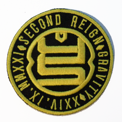 Second Reign Gravity - Embroidered Icon Gold Patch - LIMITED