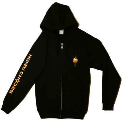 Hoodie Second Reign - Gold Print - with Zipper